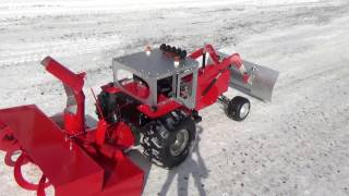 Rc snow blower homemade first test(hard snow).