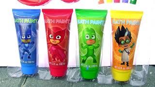 PJ Masks Bathtime Paint Slide Learn Color Bath Paint PJ Masks