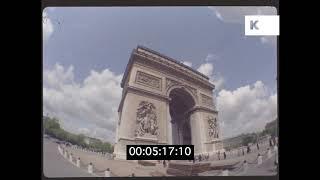 1970s Paris Sightseeing, Landmarks, City Scenes, HD from 35mm