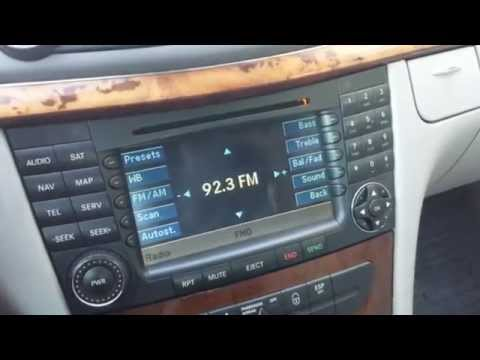 How to Troubleshoot Audio & Navigation of Mercedes E320 / E350 2002 to 2009 for Repair.