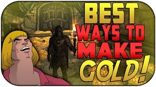 Skyrim Remastered: THE BEST WAYS TO MAKE GOLD! | How to Make Gold Fast | Tips For Easy Gold Making!