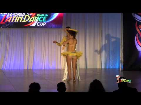ANDREW CERVANTES & ASHLEY MAGANA, MEXICO & USA, SALSA ON 2, FINAL ROUND, WLDC 2014