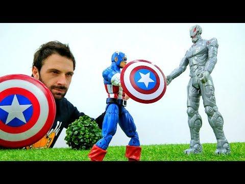 Видео игры 👊 Первый МСТИТЕЛЬ #КапитанАмерика против Альтрона! Видео игрушки #Супергерои Марвел