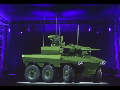 Jaguar EBRC 6x6 reconnaissance and combat armoured vehicle Scorpion program French army