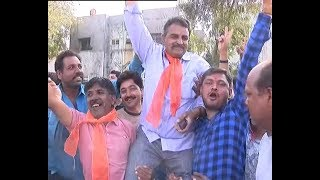 Gujarat Civic Election Result 2018: BJP workers CELEBRATE in Rajkot; BJP leads on 22, Cong 17