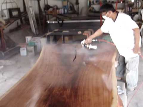 Slab Dining Table Lacquer Finish Freeform Live Edge Youtube