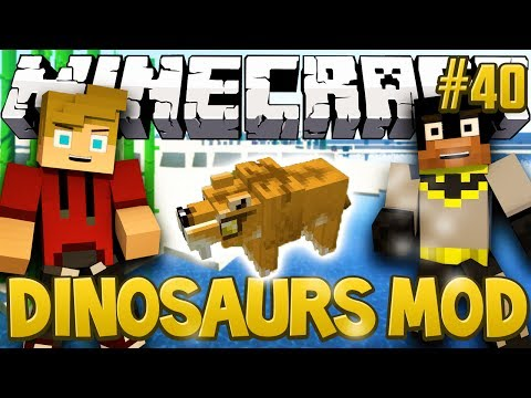 Sabre Toothed Tigers Minecraft Dinosaurs Mod Fossils and Archaeology Series Episode 40