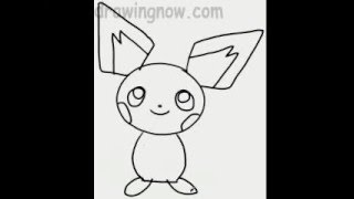 Learn to Draw Pichu the Pokeman