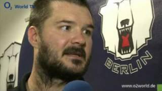 Jeff Friesen Interview zum Spiel Eisbaeren Berlin gegen Karlstad
