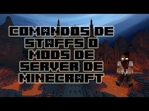 Comandos Para Moderadores Y Staff En Un Server De Minecraft