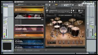 NI's Komplete 8 Tutorial_ Studio Drummer - New Drum Kits, Effects, EQ