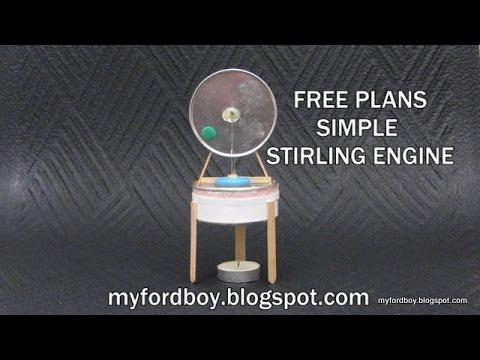 Free Plans Myfordboy Pringle Stirling Engine