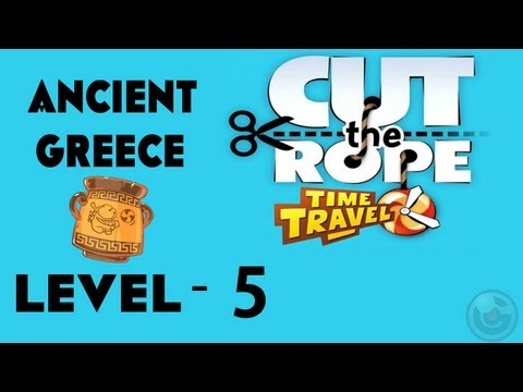 Cut the Rope: Time Travel (Ancient Greece) Walkthrough-3Stars  Level- 5