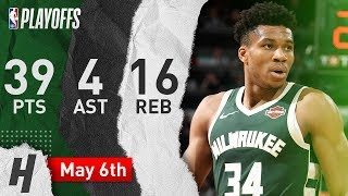 Giannis Antetokoumpo Full Game 4 Highlights vs Celtics 2019 NBA Playoffs - 39 Pts, 4 Ast, 16 Reb!