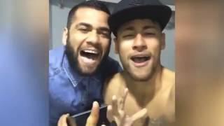 Neymar and Dani Alves Singing...  2015