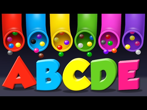 Learn Alphabet for Toddlers Kids Babies with A Lot of Candy Surprise Eggs