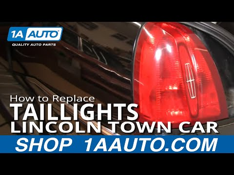 How To Install Repair Replace Broken Taillight Lincoln Town Car 98-02 1AAuto.com