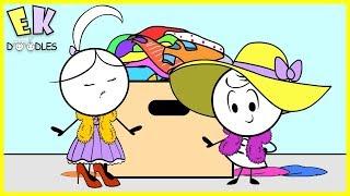 "Emma & Kate ""Pretend Play Dress Up"" - EK Doodles Cute Funny Animation"