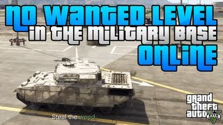 GTA 5 - How To Get Inside the Military Base with No Wanted Level Online! (GTA 5 Tricks)