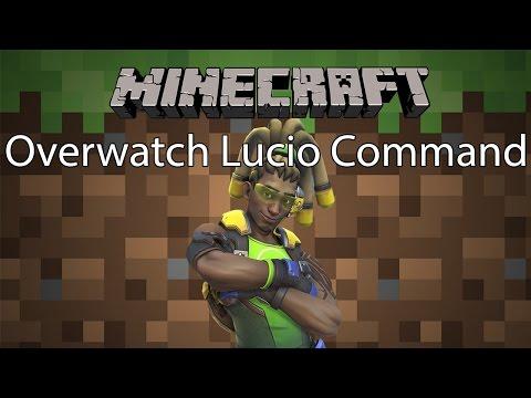 Minecraft Command รีวิว - ตัวละคร Lucio   Overwatch Lucio [1.11.2]