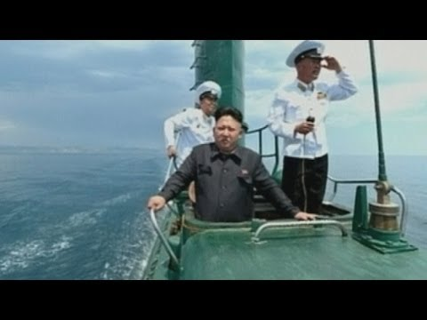 North Korea releases images of Kim Jong Un inspecting a submarine