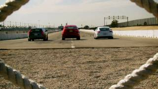 Drag Race! 2011 Cadillac CTS-V Wagon vs 2011 Porsche Panamera Turbo vs 2011 BMW X6 M