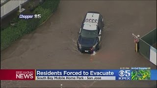 Coyote Creek Flooding Forces Evacuations At San Jose Mobile Home Park