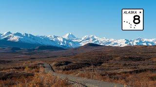 Stunning Mountainous Scenery:  Alaska's Denali Highway (4K)