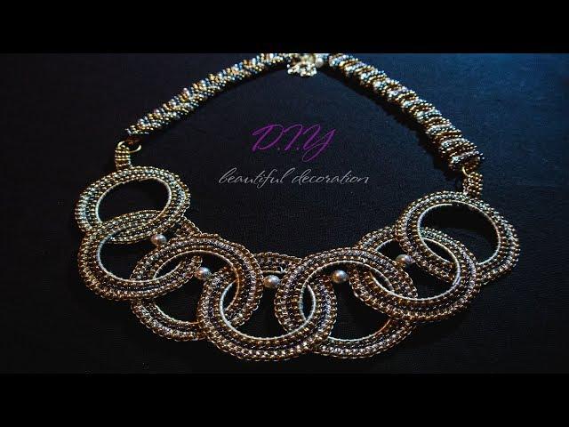 Beaded necklace tutorials.Beading tutorial for beginners.Diy.Jewellery Making