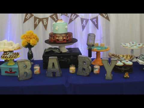 Mateo Airplane theme baby shower