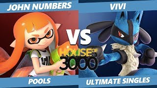 Smash Ultimate Tournament - John Numbers (Inkling) Vs. Vivi (Lucario) Xeno 149 SSBU Pools