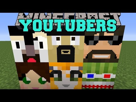 Minecraft: MORE YOUTUBER BLOCKS (STAMPYLONGHEAD. IBALLISTICSQUID. & THEATLANTICCRAFT) Mod Showcase