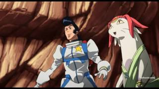 Space dandy Dandy and Meow vs giant aliens