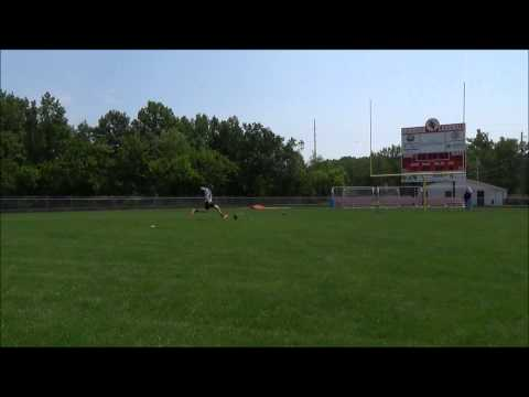 Arik kicks extra points at Brookside High School 8-3-2014
