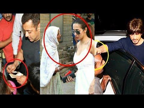 What Bollywood Stars Do When BEGGARS Ask For Money   Salman, Shahrukh, Malaika Arora, Ranveer Singh