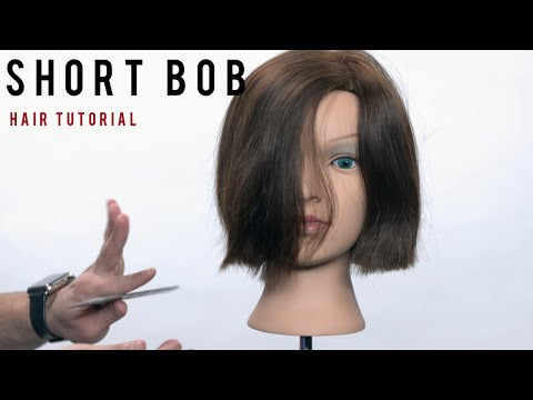 Dry Haircut Step by Step Tutorial  - Short Bob Haircut Tutorial - TheSalonGuy