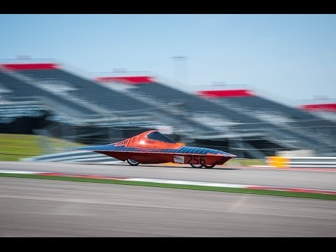 OSU Solar Car : time laps from inside !