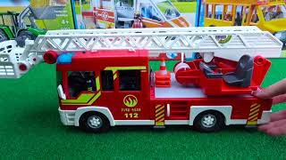 Unboxing Toys School Bus, Fire Truck, Construction Vehicle, Police Car, Ambulance