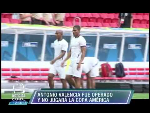 Antonio Valencia fue operado y no jugará la Copa América