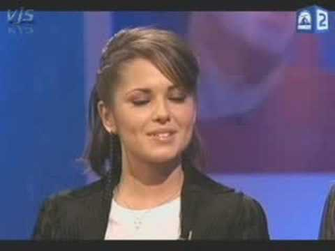 Cheryl Tweedy & Kimberley Walsh with Frank Skinner (P1)