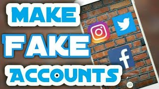 How to Create INSTAGRAM Fake Account 2018 | 2 minute make INSTAGRAM fake account in hindi🔥🔥
