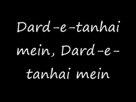 Dard E Tanhai Main(Lyrics)Hindi-Sad SonG
