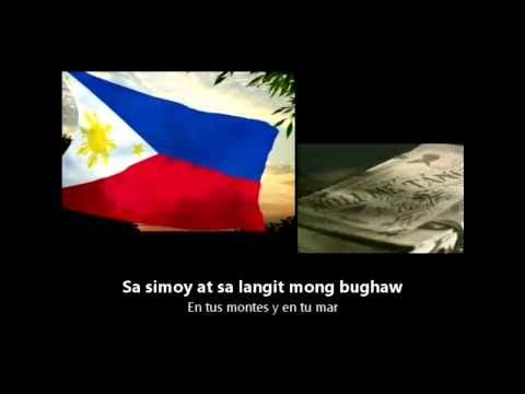 [hd] Philippine National Anthem - Lupang Hinirang - Filipino Y Español Lyrics video