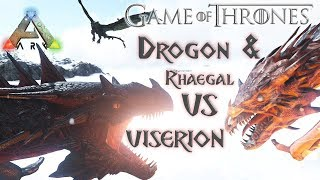 Drogon & Rhaegal VS Viserion (Ark:Survival Evolved Cinematic)