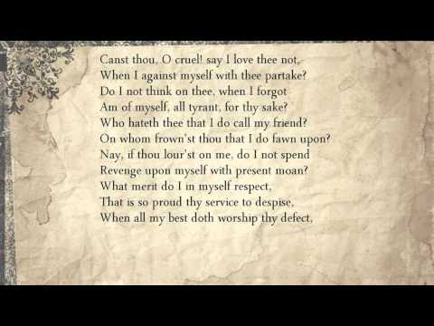 Sonnet 149: Canst thou, O cruel! say I love thee not