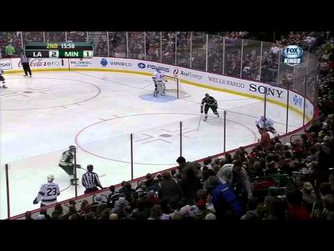 Jeff Carter wicked laser snipe PPG Mar 30 2013 LA Kings vs Minnesota Wild NHL Hockey