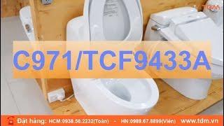 Giới thiệu bồn cầu thông minh TOTO C971 TCF9433A đời mới tự đóng mở nắp