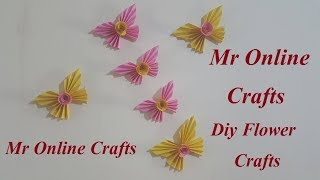 DIY - Butterfly Rose Paper Crafts || Mr Online Craft Wall Decorations Ideas