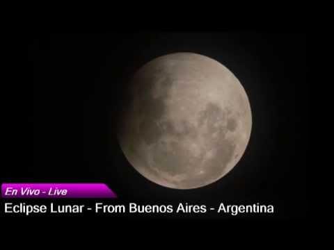Eclipse de Luna - En vivo desde Buenos Aires - Argentina 27/09/2015