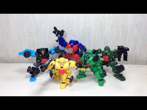 Dinobot Riders Optimus Prime, Drift, Crosshairs, Hound Bumblebee Transformers 4 Construct Bots Toy R